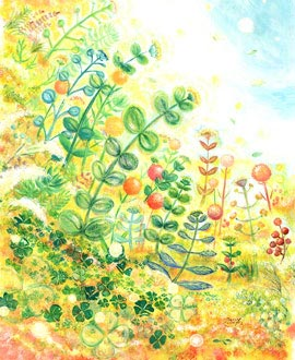観葉植物・グリーンの絵画