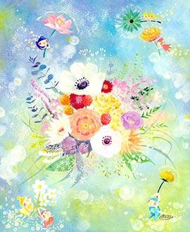 花の絵画インテリア、玄関に飾る絵画、風水