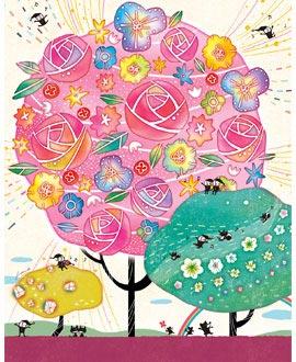 女の子の出産祝いプレゼント、1歳誕生日プレゼント/ピンク/花ギフト