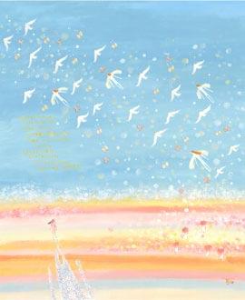 玄関に飾る風水絵画、海の絵画インテリア