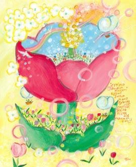 お祝いの花、プレゼント、チューリップの花