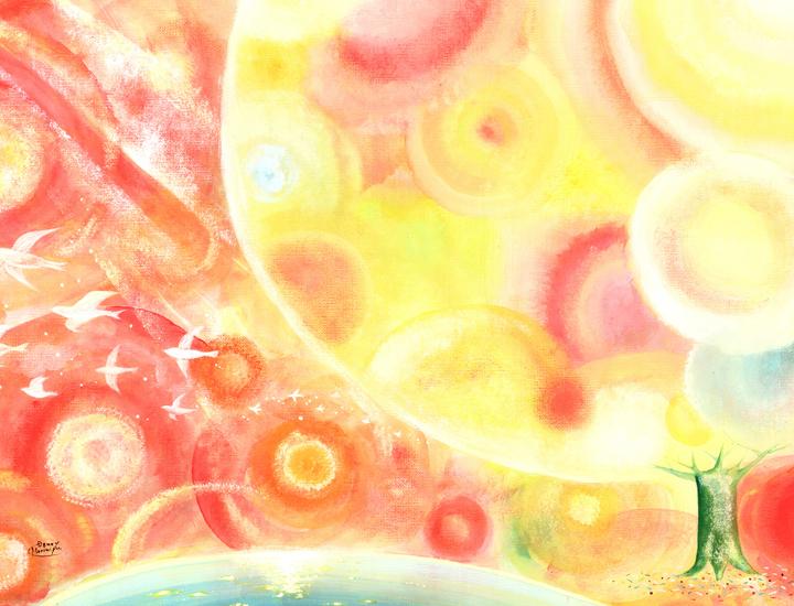 太陽の絵画