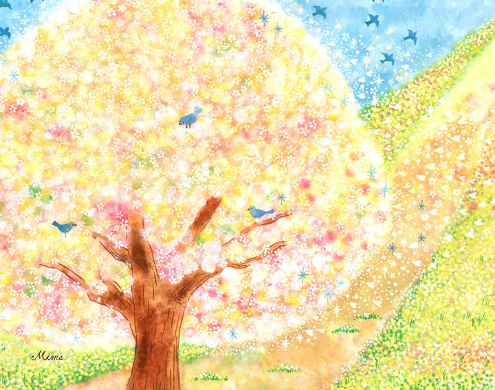 花の絵画、mimeの絵画