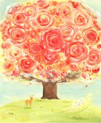 赤い花の樹、いのちの樹、命の樹、Denny Horimizu(デニーホリミズ)、画家の人気作品