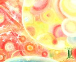 オレンジの絵画、Denny Horimizu(デニーホリミズ)、画家の人気作品