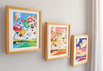 玄関やリビングに飾る絵画インテリア、空の絵、気球の絵画