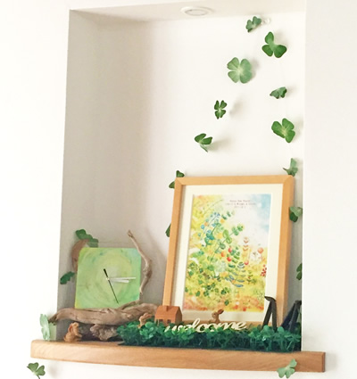 絵画 玄関 観葉植物