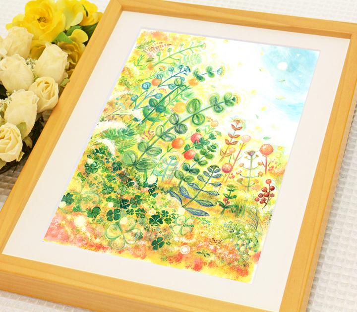 開店祝い、開業祝いにグリーン・観葉植物の絵