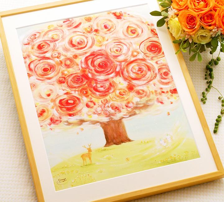 店舗に飾るインテリア、オフィスに飾る花の絵