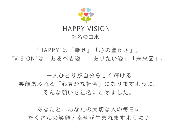 HAPPY VISION 会社名由来