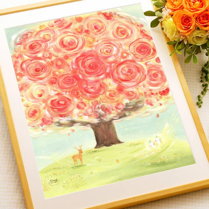 華やかな花の絵画、癒しの絵画、店舗・事務所・病院に飾る絵