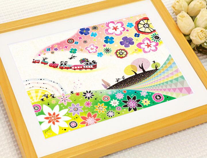 入学祝いプレゼント、娘のお祝い、出産祝い、かわいい絵画
