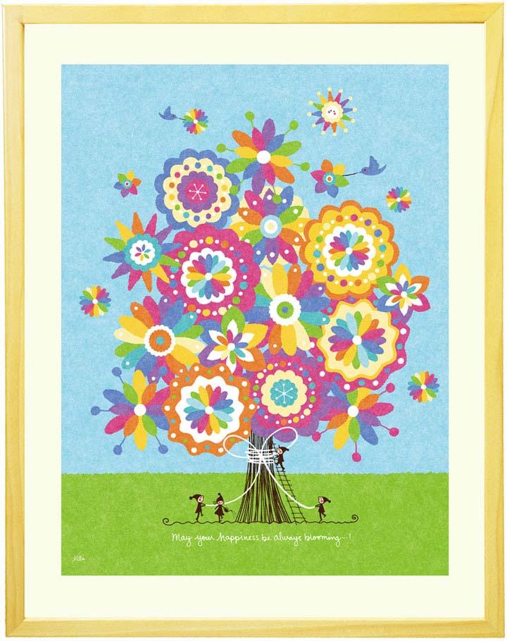 玄関に飾る絵画、風水の絵画、結婚記念日プレゼント、花束、幸せの絵、癒しのインテリア
